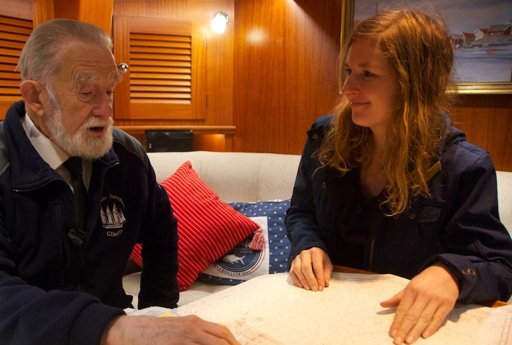 Captain Ziemowit Baranski being interviewed onboard Regina Laska