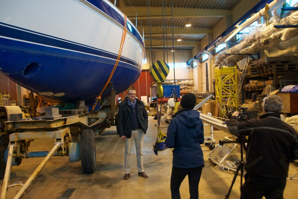 Artur being interviewed by Nautical Channel. He just loves his Blue Daisy!