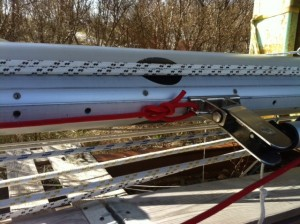 The new running rigging: Having new halyards is a joy for eyes and hands