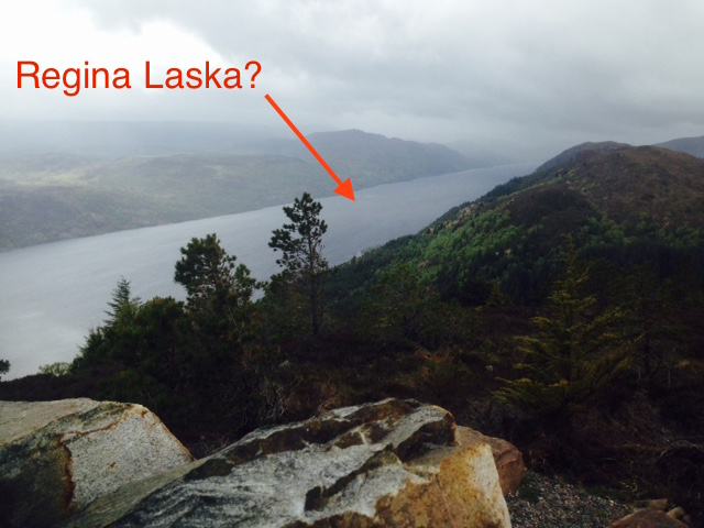 Regina Laska on Loch Ness